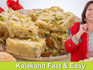 Kalakand Homemade Fast & Easy Instant Mithai Recipe in Urdu Hindi - RKK