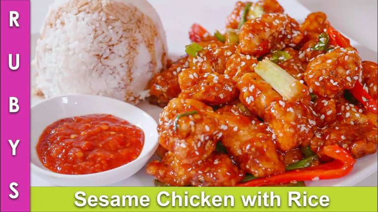 Sesame Chicken Sticky Rice Chinese Stir Fry Food Recipe In Urdu Hindi Rkk Bang Box Online