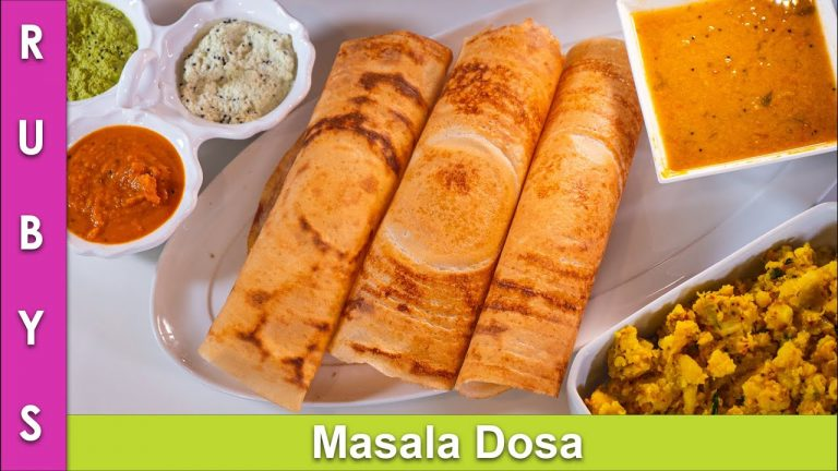 Masala Dosa & Aloo ki Sabzi & Batter Recipe in Urdu Hindi - RKK