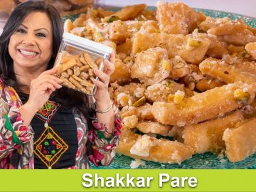 Easy Sweet & Crispy Shakkar Pare Homemade Mithai Recipe in Urdu Hindi - RKK