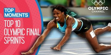 Top 10 Athletics Sprint Finishes at the Olympics | Top Moments