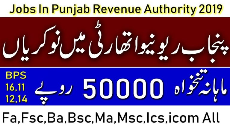 Jobs in Punjab Revenue Authority -PTS New Jobs-Online Jobs By Student Tips