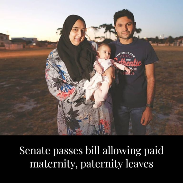 The Senate on Monday passed the Maternity and Paternity Leave Bill, 2018, which ... 3