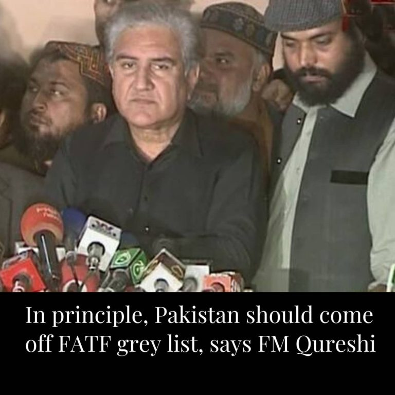 """Minister for Foreign Affairs Shah Mahmood Qureshi said on Friday that Pakistan """"should, in principle, be taken off the grey list"""" as it has made considerable progress on ... 3"""