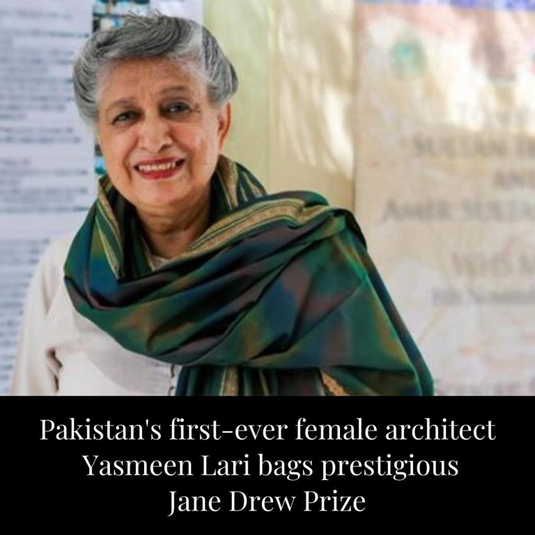 Pakistan's first-ever female architect, Yasmeen Lari, has been chosen for the Ja... 3