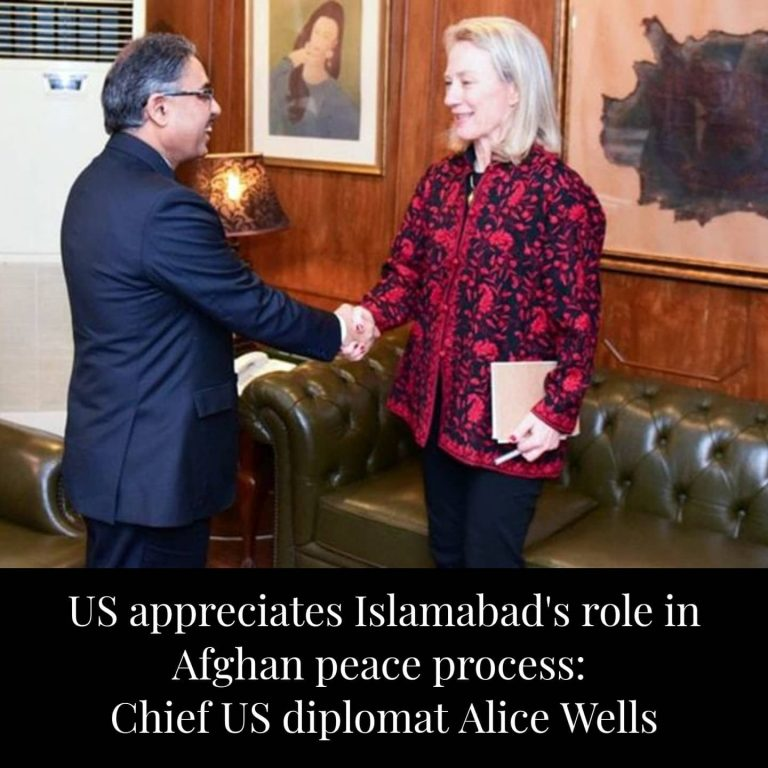 Chief US diplomat for South Asian affairs, Alice Wells, appreciated the steps taken by Pakistan to advance the Afghan peace process. The US diplomat, in a media briefing after her... 3