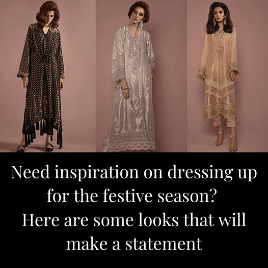 With the festive season in swing, we all need a little pick-me-up in the wardrobe department. Here are some ideas on how you can style a festive look: 3