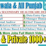 1000 Jobs Gujranwala & All Punjab | Male Female Gujranwala Lahore Punjab