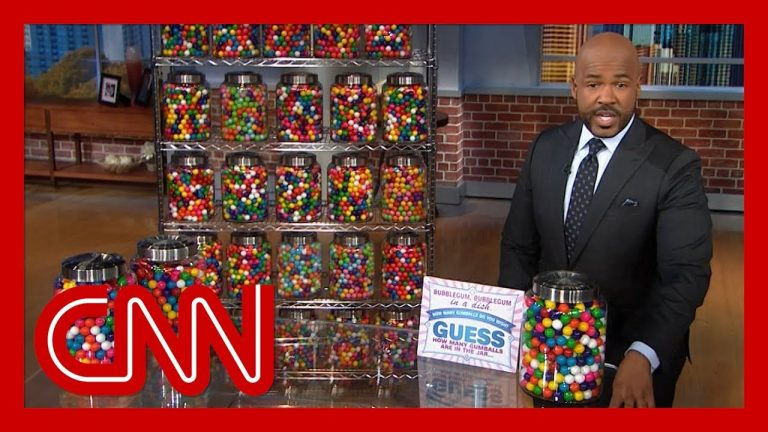 CNN anchor uses gumballs to portray Donald Trump's thousands of false claims
