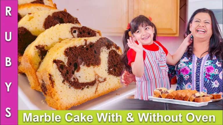 Marble Tea Cake With & Without Oven Super Easy Recipe in Urdu Hindi - RKK