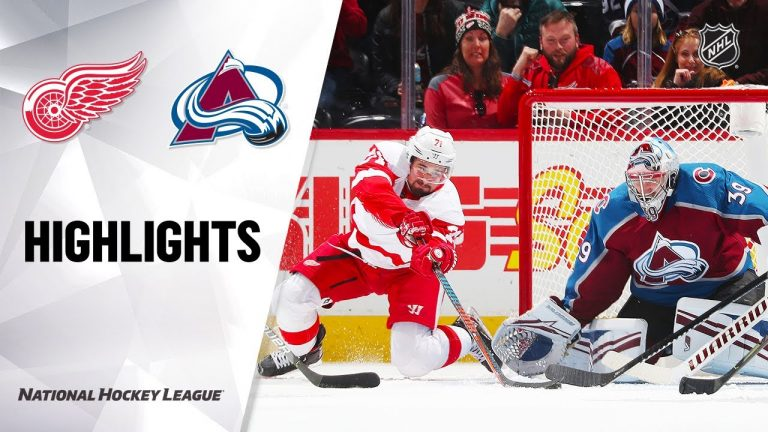NHL Highlights | Red Wings @ Avalanche 1/20/20