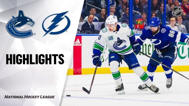 NHL Highlights | Canucks @ Lightning 1/7/20