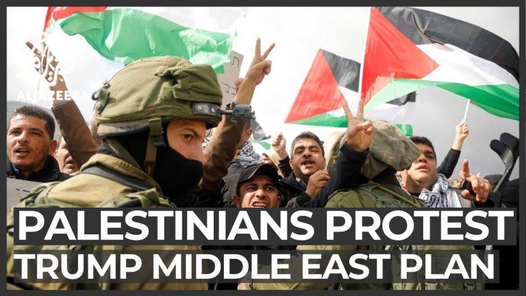 Trump's Middle East plan: Protests in occupied West Bank