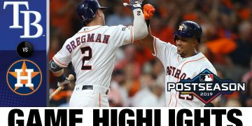 Gerrit Cole, Jose Altuve lead Astros to ALDS win | Rays-Astros MLB Highlights