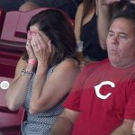 ARI@CIN: LaMarre's parents watch his first MLB at-bat