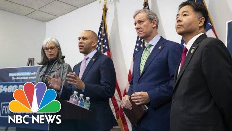House Democratic Leaders Hold Press Conference   NBC News (Live Stream Recording)