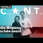 Katie Hopkins' tough day: tricked by fake award, blocked from Twitter