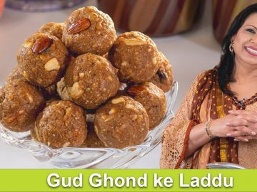 Gud Gond Ke Laddu Jarggery Gur Ki Mithai Recipe in Urdu Hindi - RKK