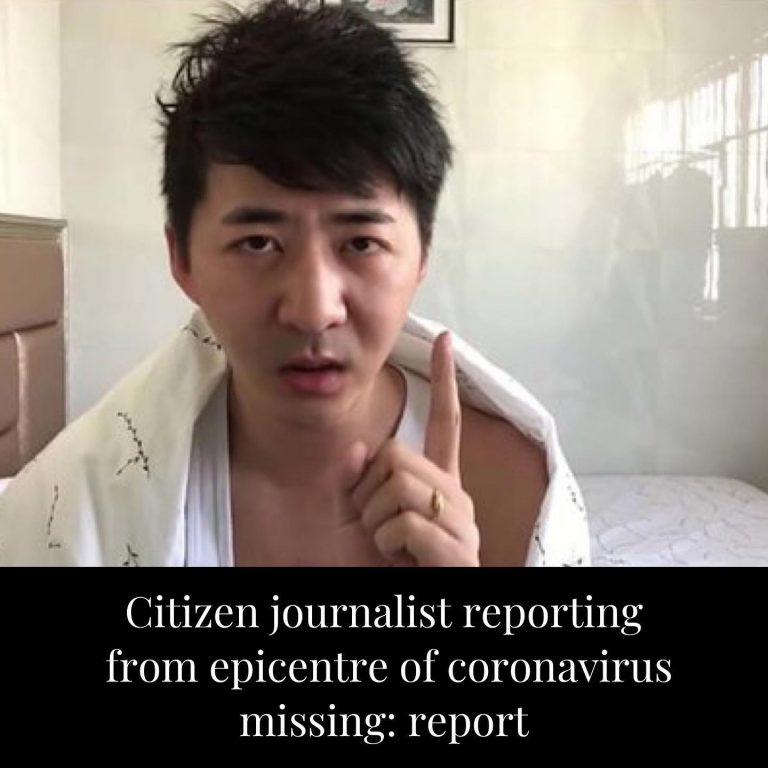 A citizen journalist who was reporting from Wuhan — the epicentre of the coronav... 3
