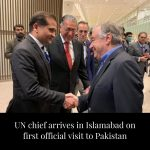 United Nations Secretary General António Guterres arrived in Islamabad on Sunday... 6