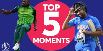 Sharma? Chahal? Phehlukwayo? | South Africa vs. India - Top 5 Moments |ICC Cricket World Cup 2019