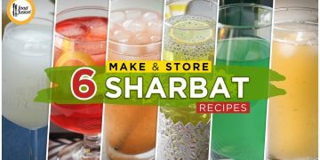 Top 6 Make & Store Sharbat Recipes By Food Fusion (Iftar Drinks)