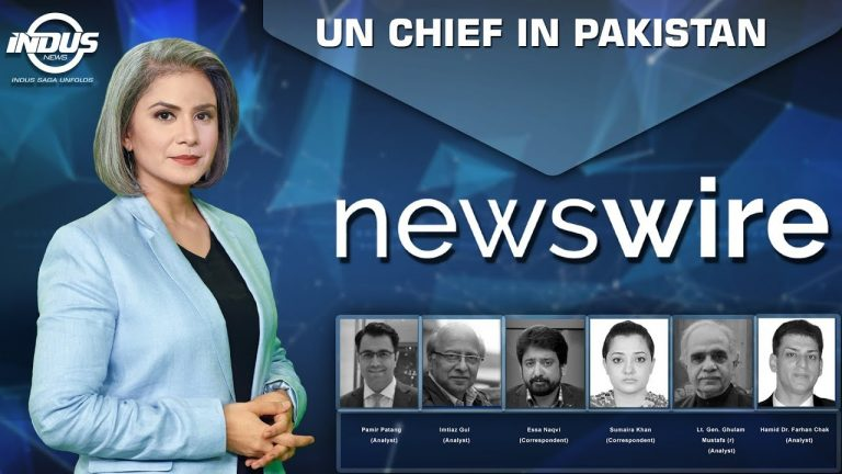 News Wire with Ayza Omar   UN Chief in Pakistan   Ep 195   Indus News
