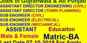 Jobs Civil Electrical Mechanical Assistant |Sayjobcity Male Female Gujranwala Punjab