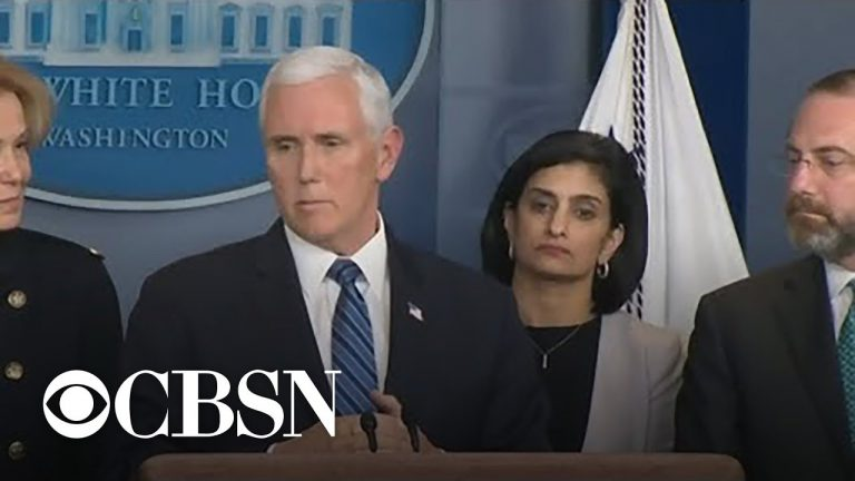 Pence and coronavirus task force hold press briefing