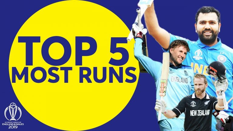 The Most Runs at the 2019 Cricket World Cup?   Top 5 Run-Scorers   ICC Cricket World Cup 2019