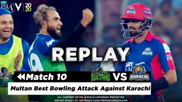 Multan Best Bowling Attack Against Karachi | Multan Sultans vs Karachi Kings | Match 10 | HBL PSL