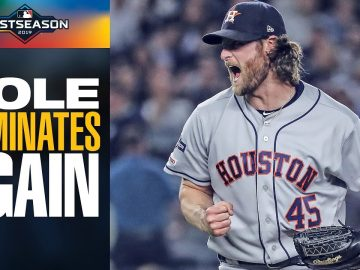 Astros' Gerrit Cole (7 IP, 7 Ks, 0 R) continues Postseason dominance vs Yankees | MLB Highlights