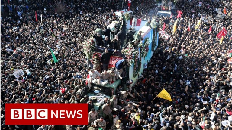 Soleimani: Stampede kills at least 35 mourners at commander's burial - BBC News