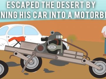 The Electrician who escaped the desert by turning his car into a motorbike