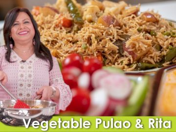 Vegetable Pulao aur Baingan ka Raita Recipe in Urdu Hindi - RKK