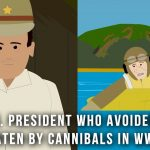 The President who avoided being eaten by cannibals in WWII