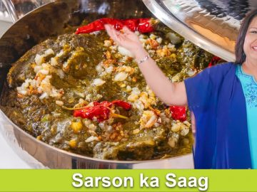 Sarson ka Saag Sabzi ya Phir Bhaji Mustard Greens Recipe in Urdu Hindi - RKK