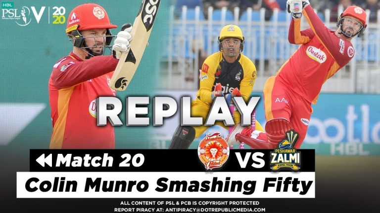 Colin Munro Smashing Fifty | Islamabad United vs Peshawar Zalmi | Match 20 | PSL 2020