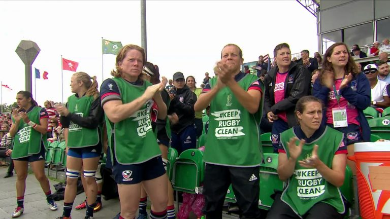 Highlights: England beat USA 47 -26 at Women's Rugby World Cup