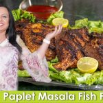 Pomfret Masala Fish Fry Pomfret Fish Recipe in Urdu Hindi - RKK