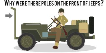 Why were there poles on the front of Jeeps?