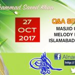 27 Oct 2017 Q&A Session JQ-271017