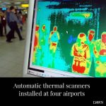 Automatic thermal scanners have been installed at the airports of Islamabad, Kar... 1