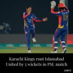 Karachi Kings kept their nerves in check to beat Islamabad United by five wicket... 2