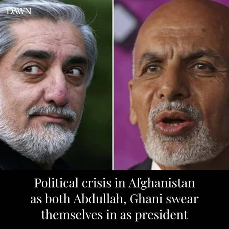Dressed in traditional Afghan clothing and white turban, Ashraf Ghani arrived at... 3