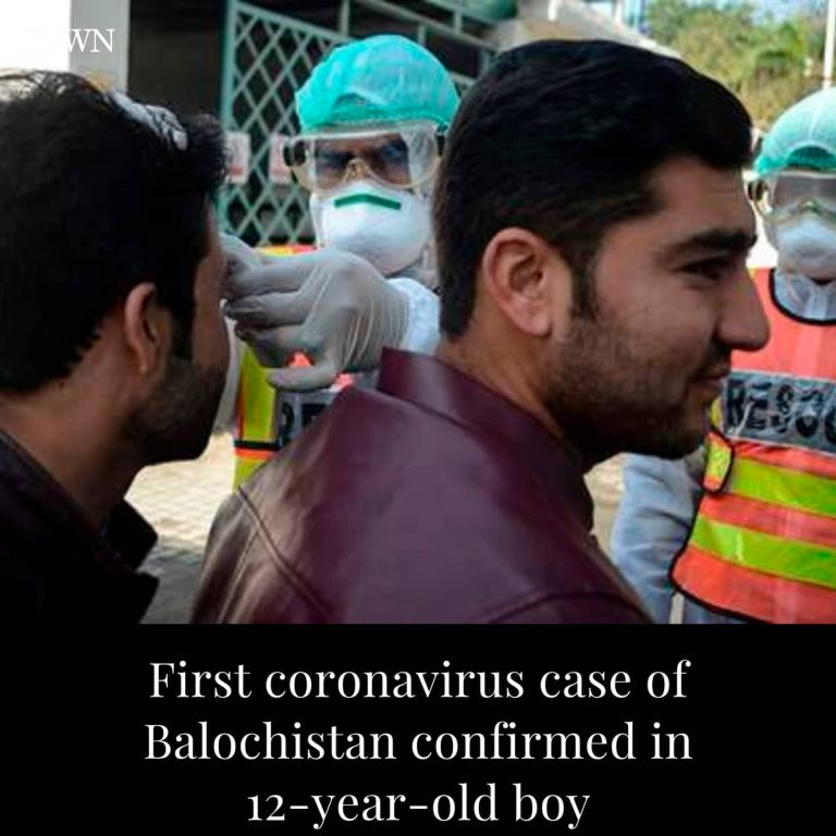 The first coronavirus case of Balochistan has been confirmed in a 12-year-old bo... 3