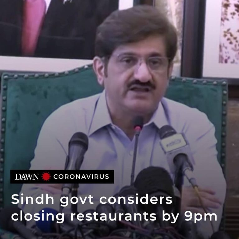Sindh government is contemplating closing restaurants and tea shops by 9pm, as t... 3