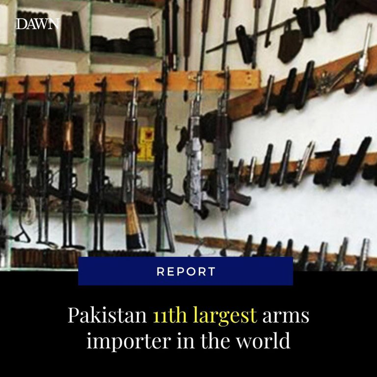 Pakistan is the eleventh largest arms importer in the world, a report published ... 3