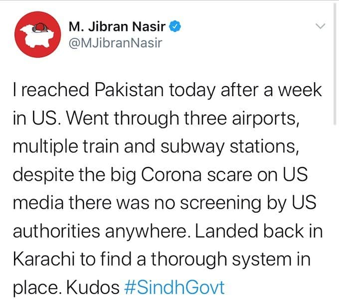 """Lawyer and activist Jibran Nasir took to Twitter to commend the """"thorough s... 7"""