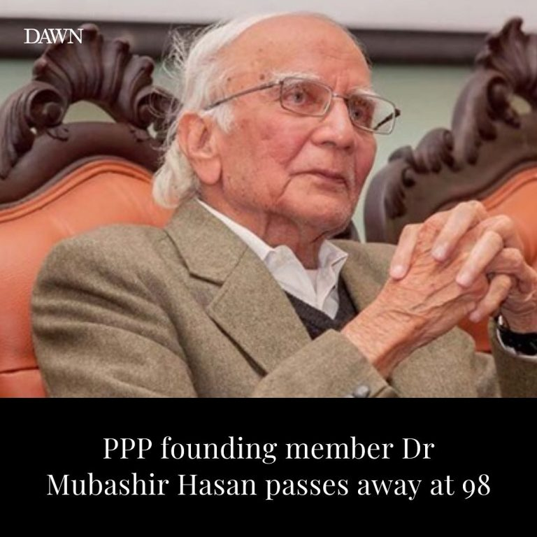 Veteran politician and one of the founding members of PPP, Dr Mubashir Hasan, pa... 3